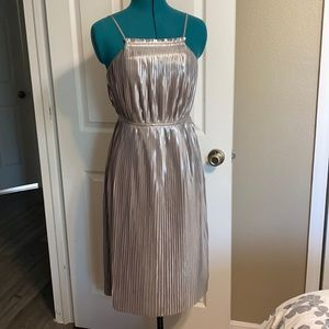 Banana republic, silver spaghetti strap dress. 0P